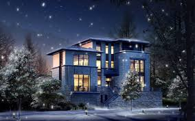 wallpaper 3d for house 3d house in winter time widescreen wallpaper wide wallpapers net
