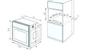 meuble de cuisine four taille four encastrable samsung nv66m3571bs four aclectrique