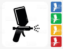 Painting Icon Paint Spray Icon Flat Graphic Design Stock Vector Art 486302930