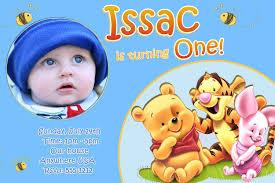 boy first birthday invitation letter disneyforever hd