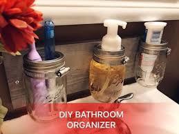 Mason Jar Bathroom Organizer Diy Mason Jar Bathroom Organizer Youtube