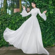 wedding dress muslimah muslimah white wedding bridesmaid prom maxi dress clothes for