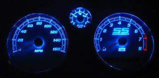 Led Cluster Lights Black Cat Custom Automotive Cobalt Cobalt Ss Gauge Faces Led