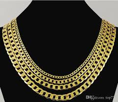 gold filled chain necklace images 8mm mens boys chain flat cut curb cuban necklace gold filled jpg