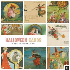 halloween charms 15 vintage halloween cards free to download and use