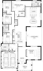 5 bedroom one story house plans baby nursery single story floor plans single storey bungalow