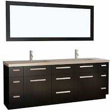 design element moscony 84 in w x 22 in d vanity in espresso with
