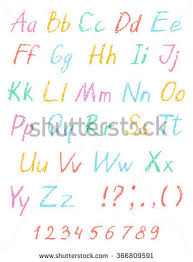 crayon alphabet stock images royalty free images u0026 vectors