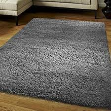 Shaggy Grey Rug Shaggy Rug High Pile Long Pile Modern Carpet Uni Grey Dimension