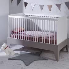 chambre bebe evolutive lit bebe evolutif 70x140 elvi blanc gris elvilinm01b
