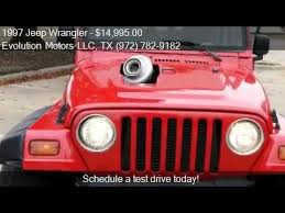 97 jeep wrangler se 1997 jeep wrangler se for sale in dallas tx 75243 at evolut