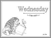 jan brett u0027s days of the week coloring pages times