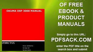 okuma osp 3000 manual video dailymotion