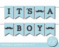 little man mustache baby shower blue little man printable banner it s a boy mustache banner