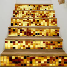 online get cheap wall art decals aliexpress com alibaba group jermyn golden bricks stairs stickers imitation 3d living room self adhesive wall poster waterproof wall art decals stickers