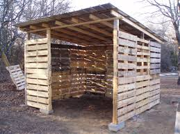 shed made from pallets this photo shows a