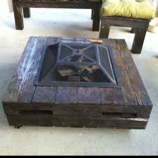 pallet coffee table with fire pit for the home pinterest