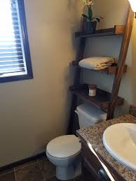 ana white leaning bathroom ladder over toilet shelf diy projects