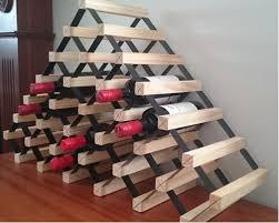 sloped timber wine racks