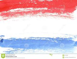 French Flag Banner Watercolor French Flag Abstract Banner Of France Stock