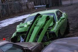 hellcat engine swap challenger hellcat crashed an hour off the showroom floor mopar
