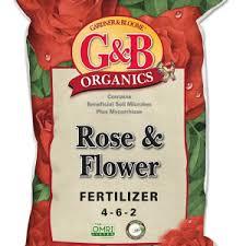 Fertilizer For Flowering Shrubs - g u0026b organics rose u0026 flower fertilizer for roses flowers