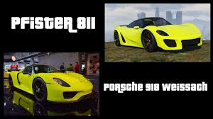 Porsche 918 Gta 5 - gta 5 pfister 811 best color scheme