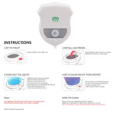 2pcs ywxlight ip65 smart bathroom toilet nightlight led seat