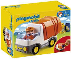 truck amazon com playmobil 1 2 3 recycling truck toys u0026 games