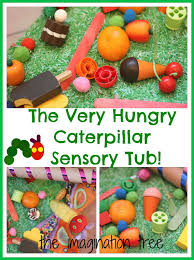 the very hungry caterpillar sensory storytelling tub the