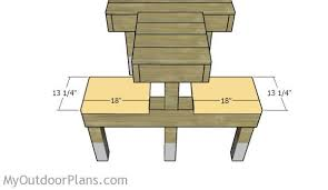 free wood shooting bench plans image mag