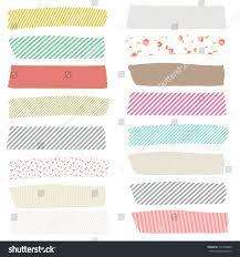 Washi Tape Designs by Cute Washi Tape Strips Digital Scrapbooking Stock Photo 175792640