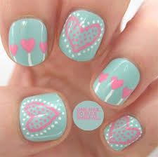 love nail art designs u0026 ideas for valentine u0027s day 2014 heart