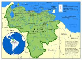 South America Rivers Map by Large Political Map Of Venezuela With Roads And Major Cities