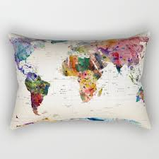 Map Bedding Rectangular Pillows Society6