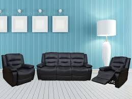 Sofa Recliner Mechanism by Buy 3 2 1 Vinyl Leather Recliner Sofa Set Online In Imphal