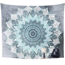 Bedroom Tapestry Indian Wall Bedroom by Tapestry Chalky Blue Mandala Lee Pinterest Tapestry