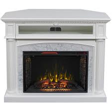 Electric Fireplace With Mantel Shop Scott Living 54 In W 5 200 Btu White Painted Mdf Infrared