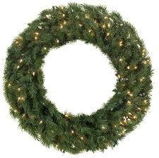 Decorated Pre Lit Christmas Wreaths by Artificial Christmas Wreaths Balsam Fir Prelit Christmas Wreath