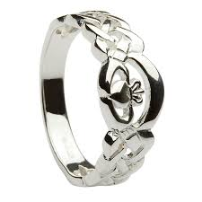 rings ladies silver images Silver ladies nua celtic claddagh ring 8mm jpg