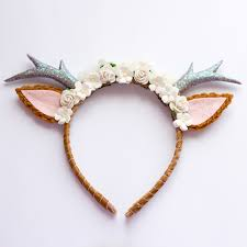 deer ears headband floral deer headband antlers floral and