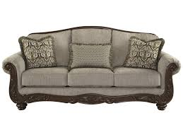 Signature Design By Ashley Cecilyn Traditional Sofa With Showood - Traditional sofa designs
