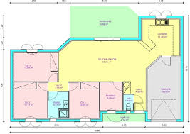 plan maison 3 chambre plain pied plan de maison 3 chambres chambre 1 bureau newsindo co