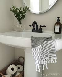 Bathroom Pedestal Sink Ideas Wonderful Powder Room Decor Simple Bathroom Design Ideas
