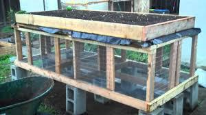 Rabbit Hutch Diy Building A Raised Bed Rabbit Hutch Part 2 Youtube