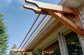 Wooden Window Awnings Asian Landscape In Ames Iowa With Customized Decks And Patios
