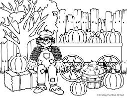 thanksgiving scarecrow coloring crafting word god