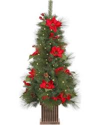 amazing deal on vickerman pre lit poinsettia berry and pine cone