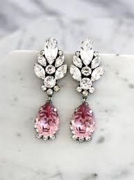 Pink Chandelier Earrings Blush Chandelier Earrings Blush Pink Earrings Bridal