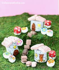 Fairy Garden Craft Ideas - marshmallow fairy garden food craft ideas